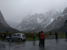 Stopping to take pictures on way to Milford Sound